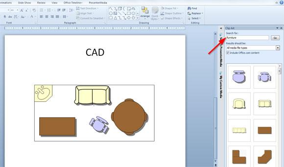 Insertar un archivo cad en powerpoint plantillas power for Dibujos de muebles para planos arquitectonicos